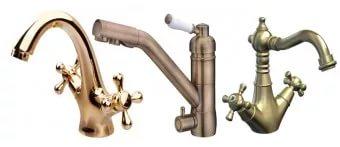 Смесители для ванны металлические