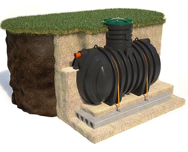 Накопительный колодец канализации