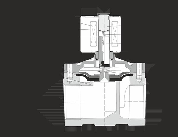 Строение соленоидного клапана