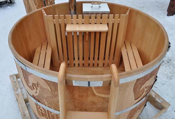 деревянная купель для бани