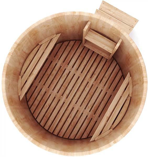 купель для бани из дерева