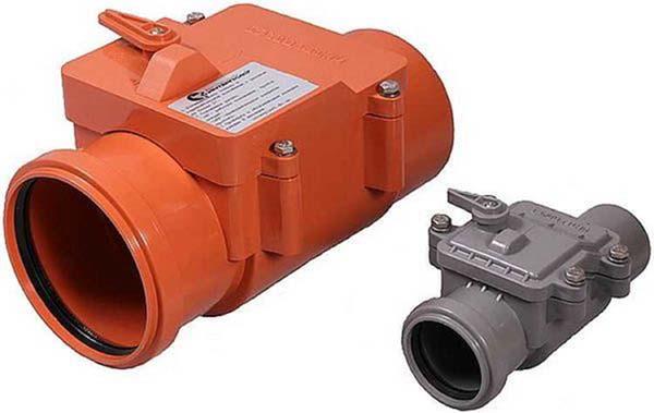 обратные клапаны канализации 110 и 50 мм