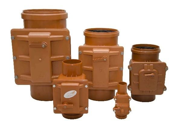 Виды канализационных клапанов